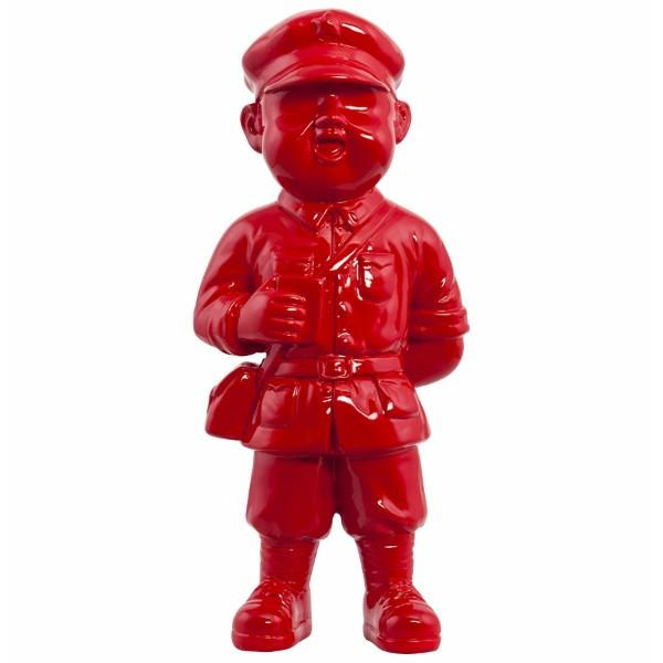 Red Uniformed Boy Statue