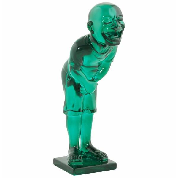 Transparent Laughing Boy Statue