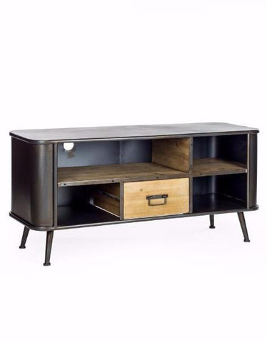 Camden Metal and Wood Media Unit