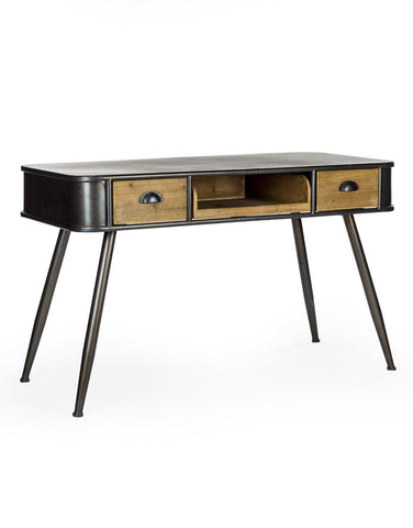 Camden Metal and Wood Desk / Console Table