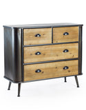 Camden Metal And Wood 2 Over 2 Chest Of Drawers
