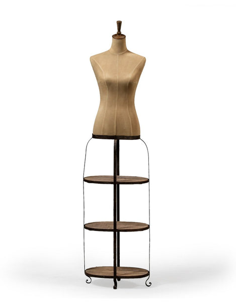 Vintage Style Mannequin With 3 Tier Shelf Base