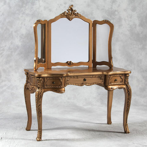 Large Gold Dressing Table