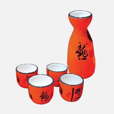Orange Sake Set