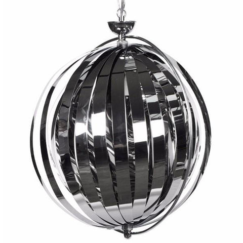 Chrome Hanging Rotating Lampshade