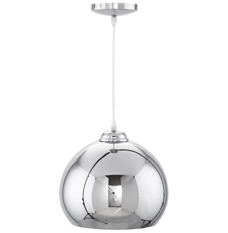 Chrome Bowl-Domed Light