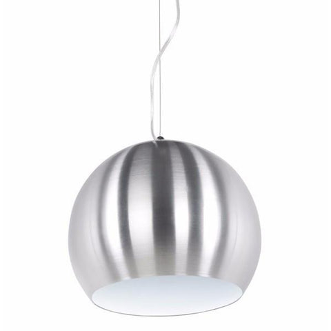 Single Brushed Metal Orb Light