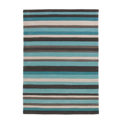 Blue Hong Kong Striped Rug