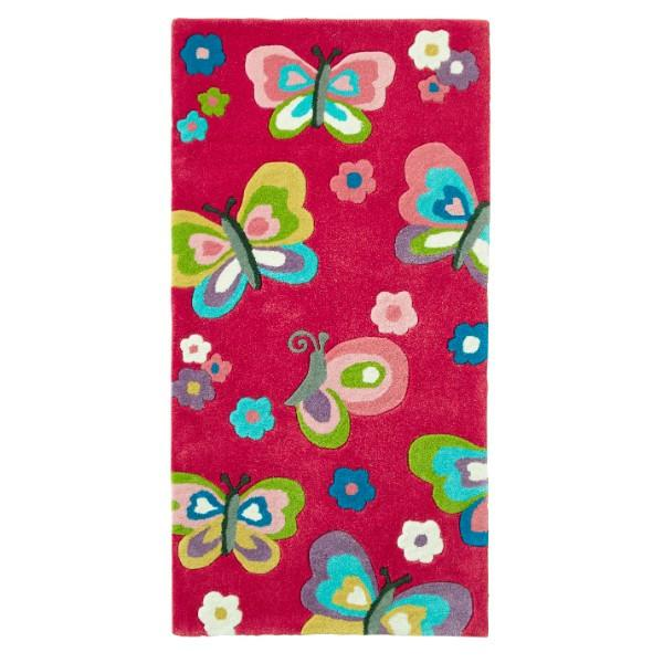 Kids Pink Butterfly Rug