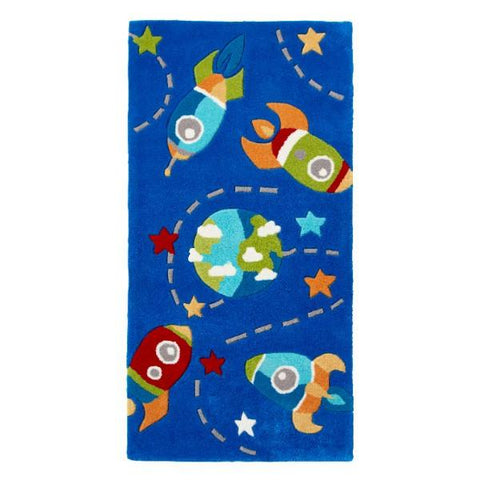 Kids Blue Space Rug