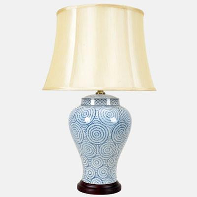 Pair of Ring Pattern Lamps
