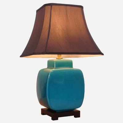 Pair of Turquoise Jar Lamps
