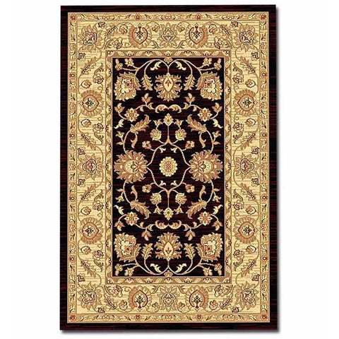 Black , red , green Antique Rug