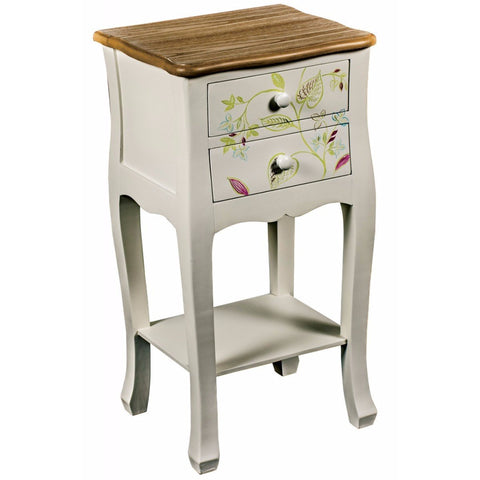 2 Drawer Plant Bedside With Shelf