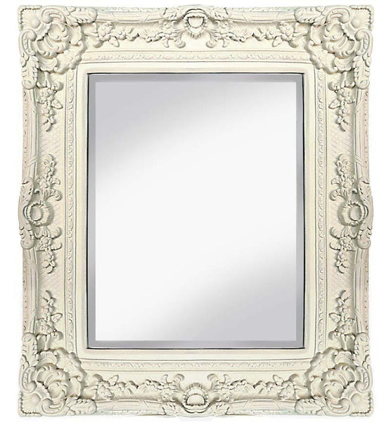 Antique French Versailles Mirror In Cream