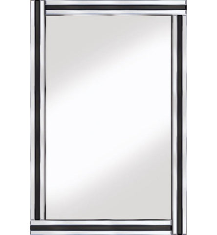 Black and Silver Classic Triple Bar Mirror