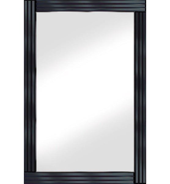 Black Classic Triple Bar Mirror