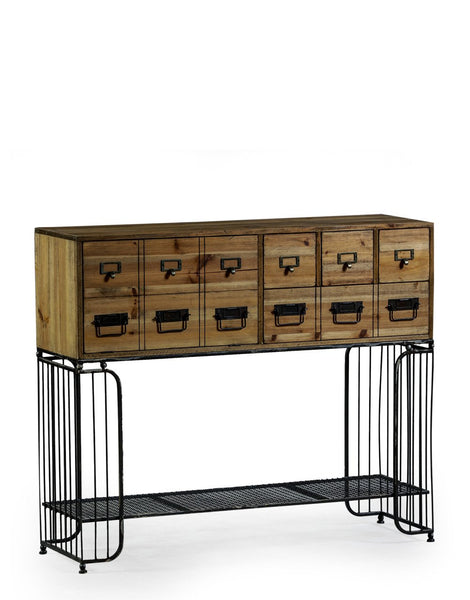 Industrial Multi Drawer Side Cabinet