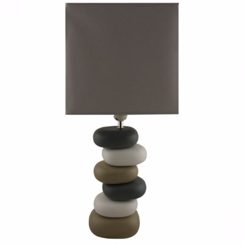 Coloured Stones Ceramic Table Lamp
