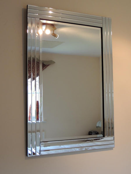 Modern 3 Bar Art Deco Mirror