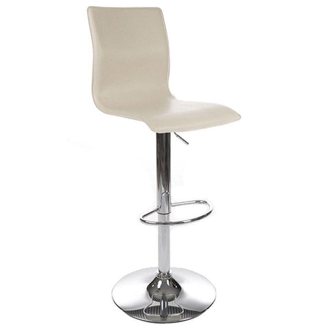 Cream Faux Leather Padded Seat
