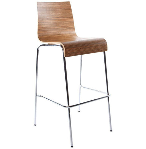 Zebrano Wooden Curve Seat