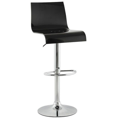 Black Tall Backed Seat With Footrest