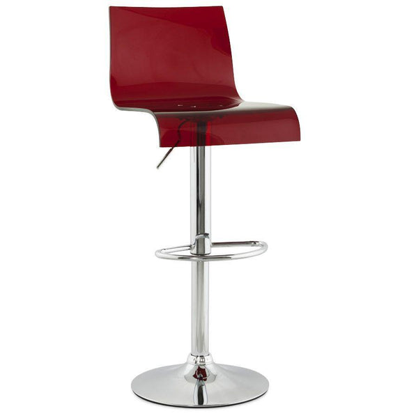 Red Tall Backed Seat With Footrest