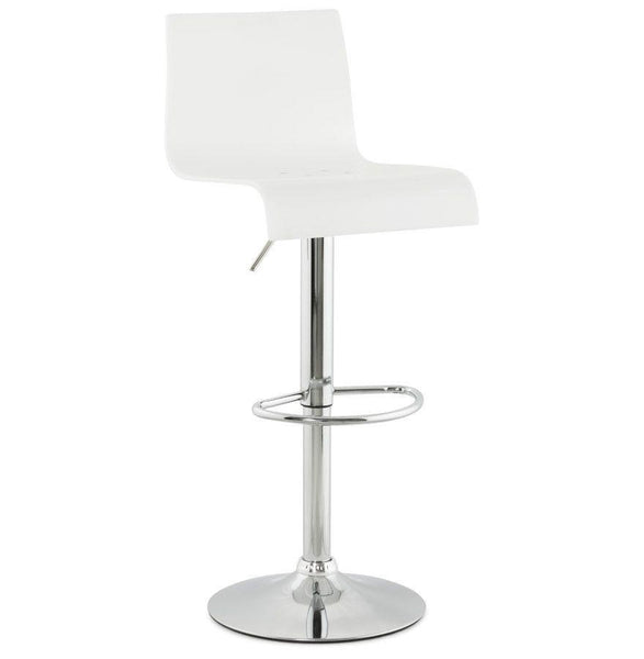 White Tall Backed Seat With Footrest