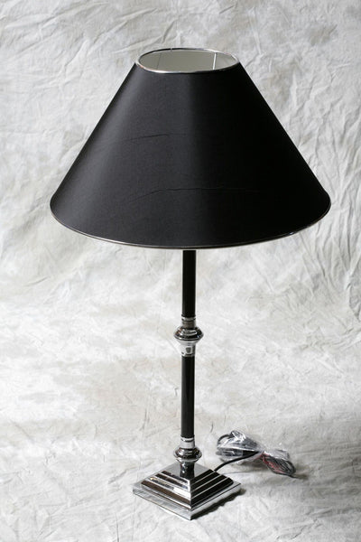 Black and Chrome Table Lamp
