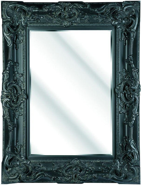 Prestige Black Ornate Mirror