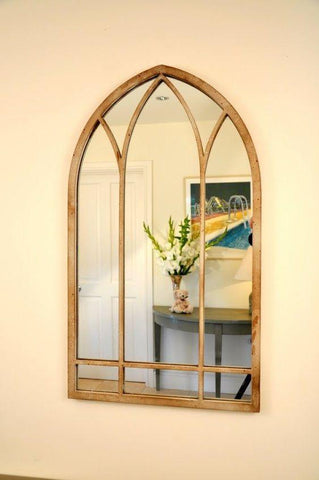 Three Arched Metal Mirror