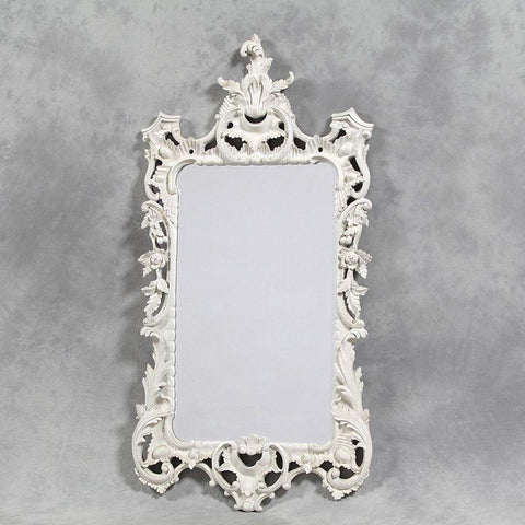 Intricate Ornate White Mirror