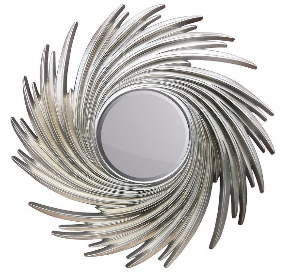 Silver Whirlpool Style Mirror