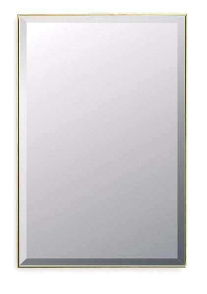 Modern Gold Bordered Mirror