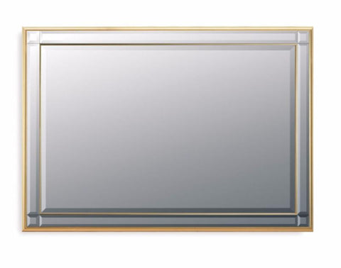 Bevelled Wall Mirror Gold