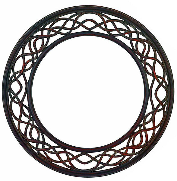Rust Effect Round Root Mirror