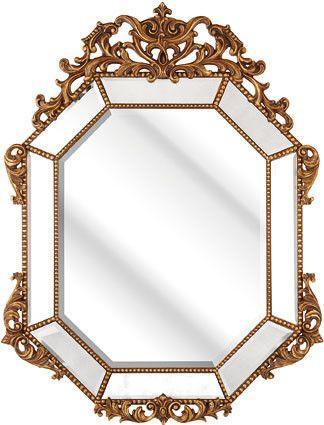 Gold Ornate Baroque Style Mirror