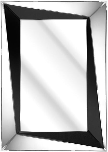 Venetian Black Angular Mirror