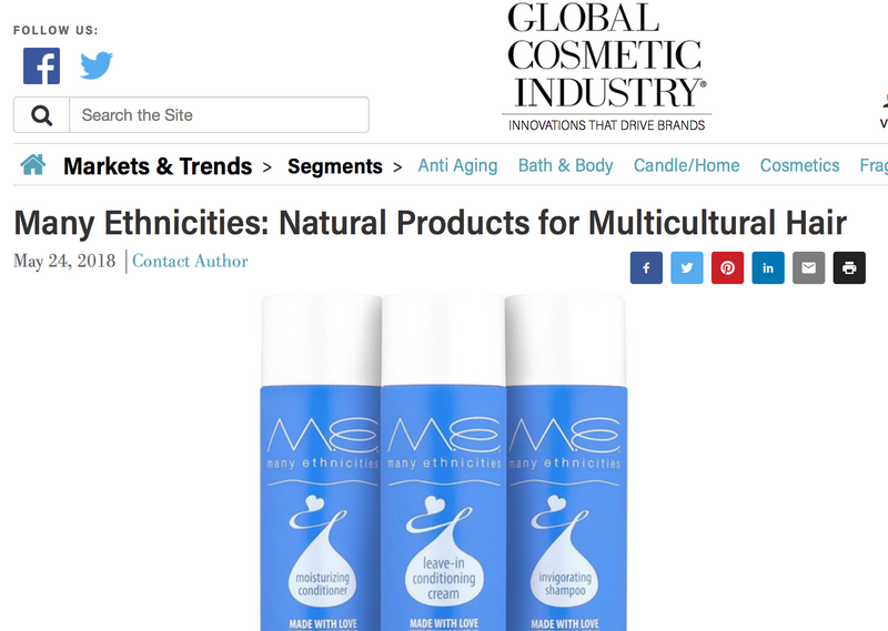 Global Cosmetics Industry Magazine Features Many Ethnicities