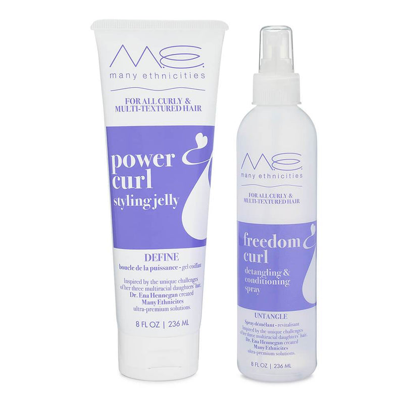 Power Curl and Freedom Curl Dynamic Duo Pack - Styling Jelly (Gel) and Detangling Spray
