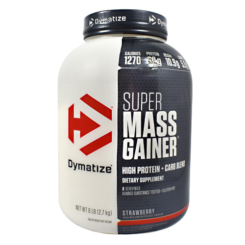 Dymatize Super Mass Gainer - Strawberry - 6 lb - 705016331260