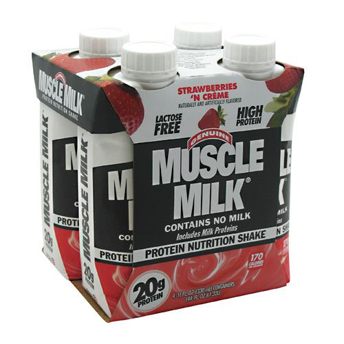 Cytosport Muscle Milk RTD - Strawberries N Cream - 12 ea - 00876063003896