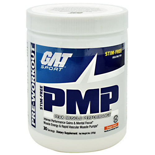 GAT PMP Stim-Free - Orange Cream - 30 Servings - 859613000163