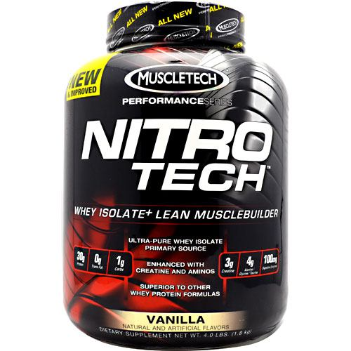 Muscletech Performance Series Nitro-Tech - Vanilla - 4 lb - 631656703290