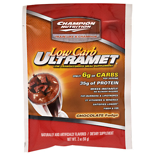 Champion Nutrition Low Carb Ultramet - Chocolate Fudge - 60 Packets - 027692132406