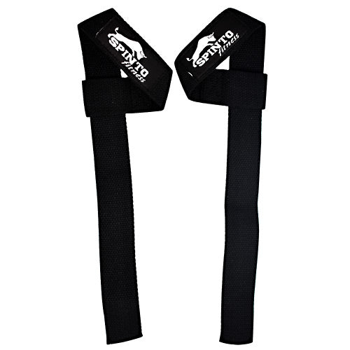Spinto Fitness Basic Lifting Straps - Black - 1 Pair - 646341998714