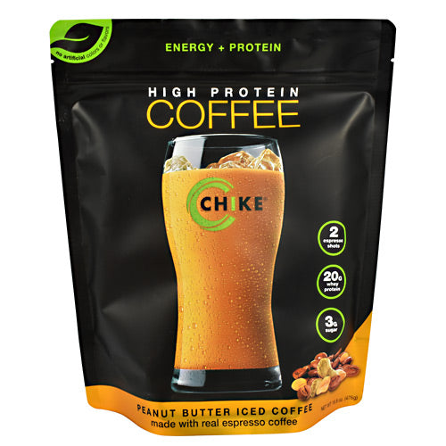 Chike Nutrition High Protein Coffee - Peanut Butter Iced Coffee - 14 Servings - 185689000487