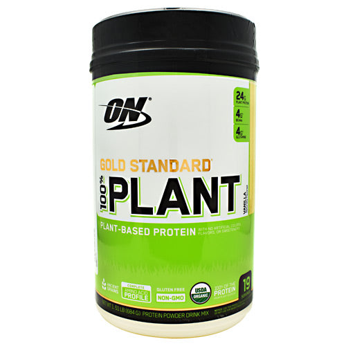 Optimum Nutrition Gold Standard 100% Plant Protein - Vanilla - 19 Servings - 748927056570