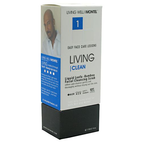 Cinsay Living Clean Liquid Loofa-Bamboo Facial Cleansing Scrub - 4 oz - 858868002137